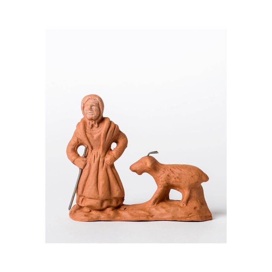 Santon à peindre La femme à la chèvre