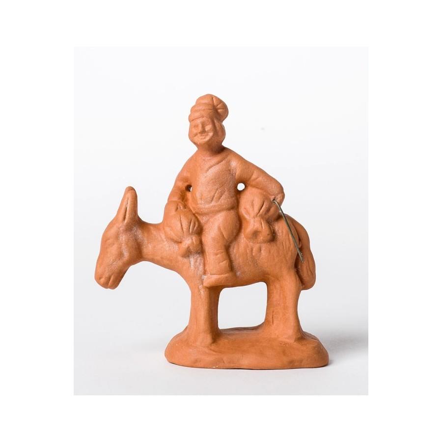 Santon à peindre Le meunier sur âne