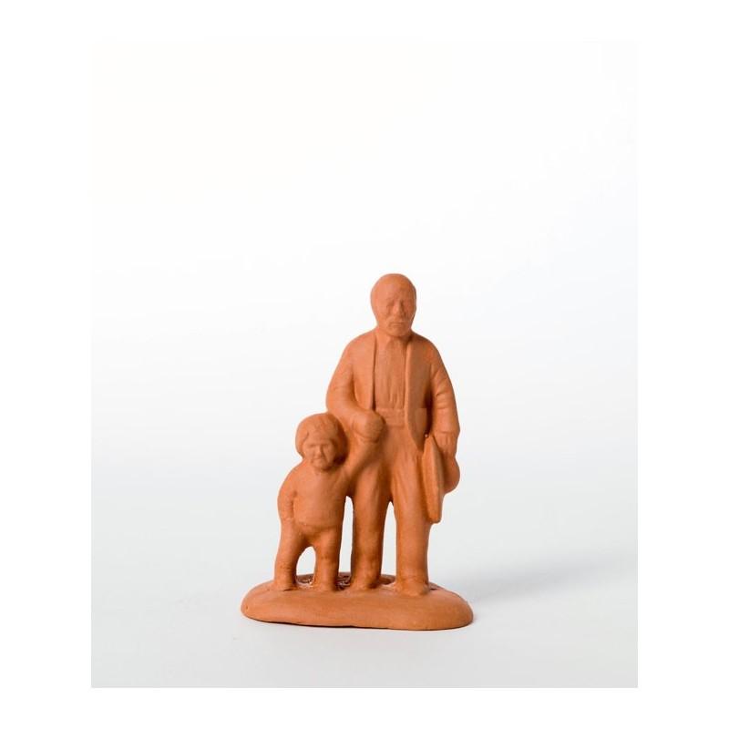 Santon L'aveugle et son fils