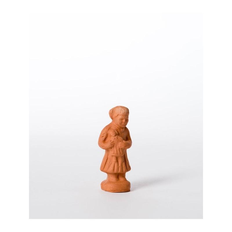Santon à peindre fille à la poupée
